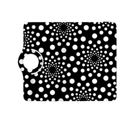 Dot Dots Round Black And White Kindle Fire Hdx 8 9  Flip 360 Case by Nexatart
