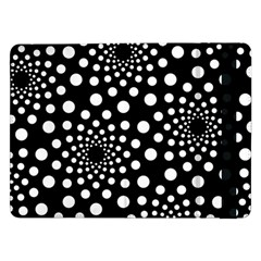 Dot Dots Round Black And White Samsung Galaxy Tab Pro 12 2  Flip Case