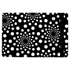 Dot Dots Round Black And White Ipad Air Flip