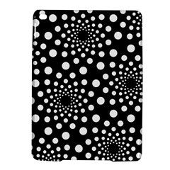 Dot Dots Round Black And White Ipad Air 2 Hardshell Cases by Nexatart