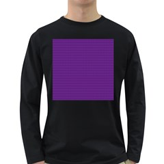 Pattern Violet Purple Background Long Sleeve Dark T Shirts by Nexatart
