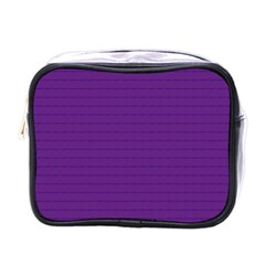 Pattern Violet Purple Background Mini Toiletries Bags by Nexatart