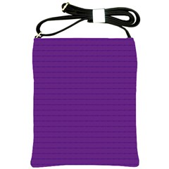 Pattern Violet Purple Background Shoulder Sling Bags by Nexatart