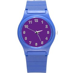 Pattern Violet Purple Background Round Plastic Sport Watch (s) by Nexatart