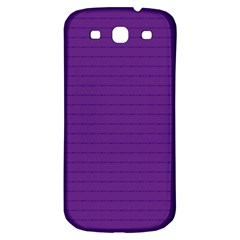 Pattern Violet Purple Background Samsung Galaxy S3 S Iii Classic Hardshell Back Case by Nexatart