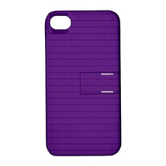 Pattern Violet Purple Background Apple Iphone 4/4s Hardshell Case With Stand