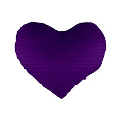 Pattern Violet Purple Background Standard 16  Premium Flano Heart Shape Cushions by Nexatart