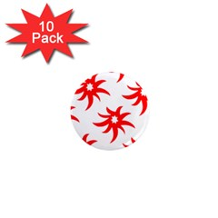 Star Figure Form Pattern Structure 1  Mini Magnet (10 Pack)