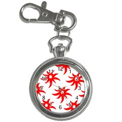 Star Figure Form Pattern Structure Key Chain Watches by Nexatart
