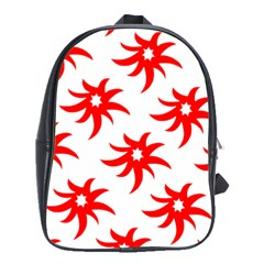 Star Figure Form Pattern Structure School Bags(large)  by Nexatart