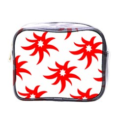 Star Figure Form Pattern Structure Mini Toiletries Bags