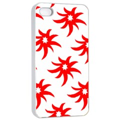 Star Figure Form Pattern Structure Apple Iphone 4/4s Seamless Case (white)