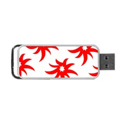 Star Figure Form Pattern Structure Portable Usb Flash (two Sides) by Nexatart