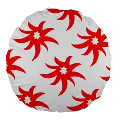 Star Figure Form Pattern Structure Large 18  Premium Round Cushions by Nexatart