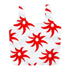 Star Figure Form Pattern Structure Full Print Recycle Bags (l)