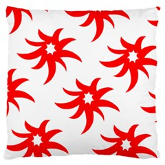 Star Figure Form Pattern Structure Large Flano Cushion Case (one Side) by Nexatart