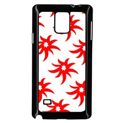 Star Figure Form Pattern Structure Samsung Galaxy Note 4 Case (black) by Nexatart