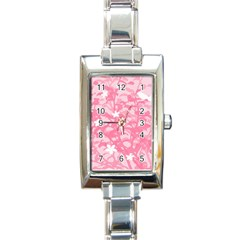 Plant Flowers Bird Spring Rectangle Italian Charm Watch