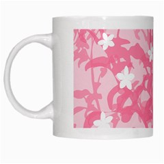 Plant Flowers Bird Spring White Mugs by Nexatart