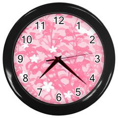Plant Flowers Bird Spring Wall Clocks (black)