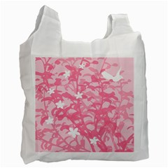 Plant Flowers Bird Spring Recycle Bag (one Side) by Nexatart