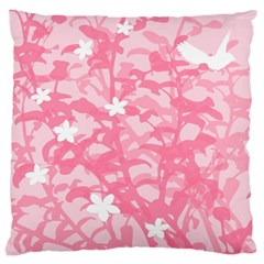 Plant Flowers Bird Spring Large Cushion Case (two Sides)