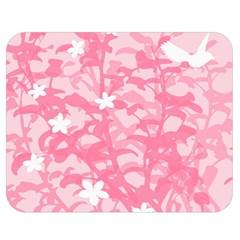 Plant Flowers Bird Spring Double Sided Flano Blanket (medium)  by Nexatart