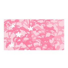 Plant Flowers Bird Spring Satin Wrap by Nexatart