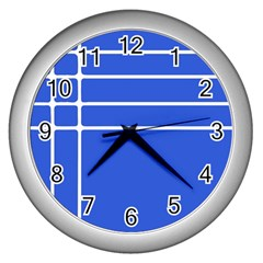 Stripes Pattern Template Texture Wall Clocks (silver)