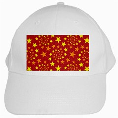 Star Stars Pattern Design White Cap by Nexatart