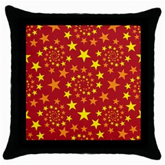 Star Stars Pattern Design Throw Pillow Case (black) by Nexatart