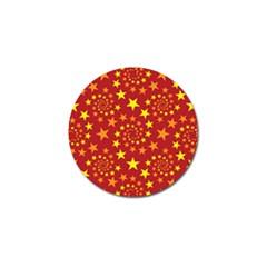 Star Stars Pattern Design Golf Ball Marker by Nexatart