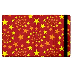 Star Stars Pattern Design Apple Ipad 2 Flip Case by Nexatart