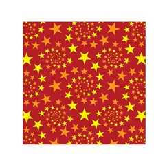 Star Stars Pattern Design Small Satin Scarf (square) by Nexatart