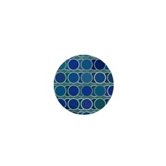 Circles Abstract Blue Pattern 1  Mini Magnets by Nexatart