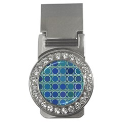 Circles Abstract Blue Pattern Money Clips (cz)  by Nexatart
