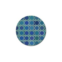 Circles Abstract Blue Pattern Golf Ball Marker (10 Pack) by Nexatart
