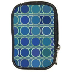 Circles Abstract Blue Pattern Compact Camera Cases by Nexatart