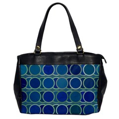 Circles Abstract Blue Pattern Office Handbags by Nexatart