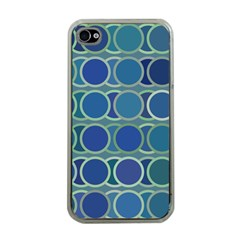 Circles Abstract Blue Pattern Apple Iphone 4 Case (clear) by Nexatart