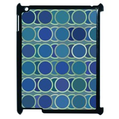 Circles Abstract Blue Pattern Apple Ipad 2 Case (black) by Nexatart