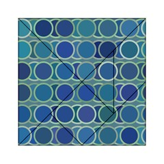 Circles Abstract Blue Pattern Acrylic Tangram Puzzle (6  X 6 ) by Nexatart