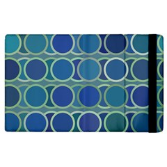 Circles Abstract Blue Pattern Apple iPad 2 Flip Case