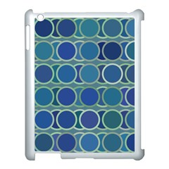 Circles Abstract Blue Pattern Apple Ipad 3/4 Case (white) by Nexatart