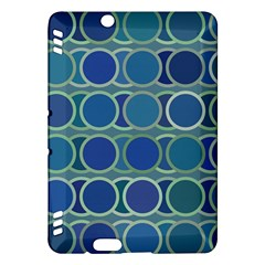 Circles Abstract Blue Pattern Kindle Fire Hdx Hardshell Case