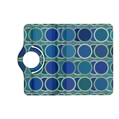 Circles Abstract Blue Pattern Kindle Fire Hd (2013) Flip 360 Case by Nexatart