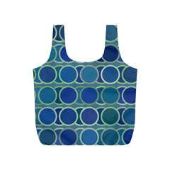 Circles Abstract Blue Pattern Full Print Recycle Bags (s)