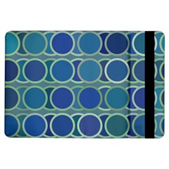 Circles Abstract Blue Pattern Ipad Air Flip