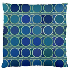 Circles Abstract Blue Pattern Standard Flano Cushion Case (two Sides) by Nexatart
