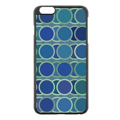 Circles Abstract Blue Pattern Apple Iphone 6 Plus/6s Plus Black Enamel Case by Nexatart